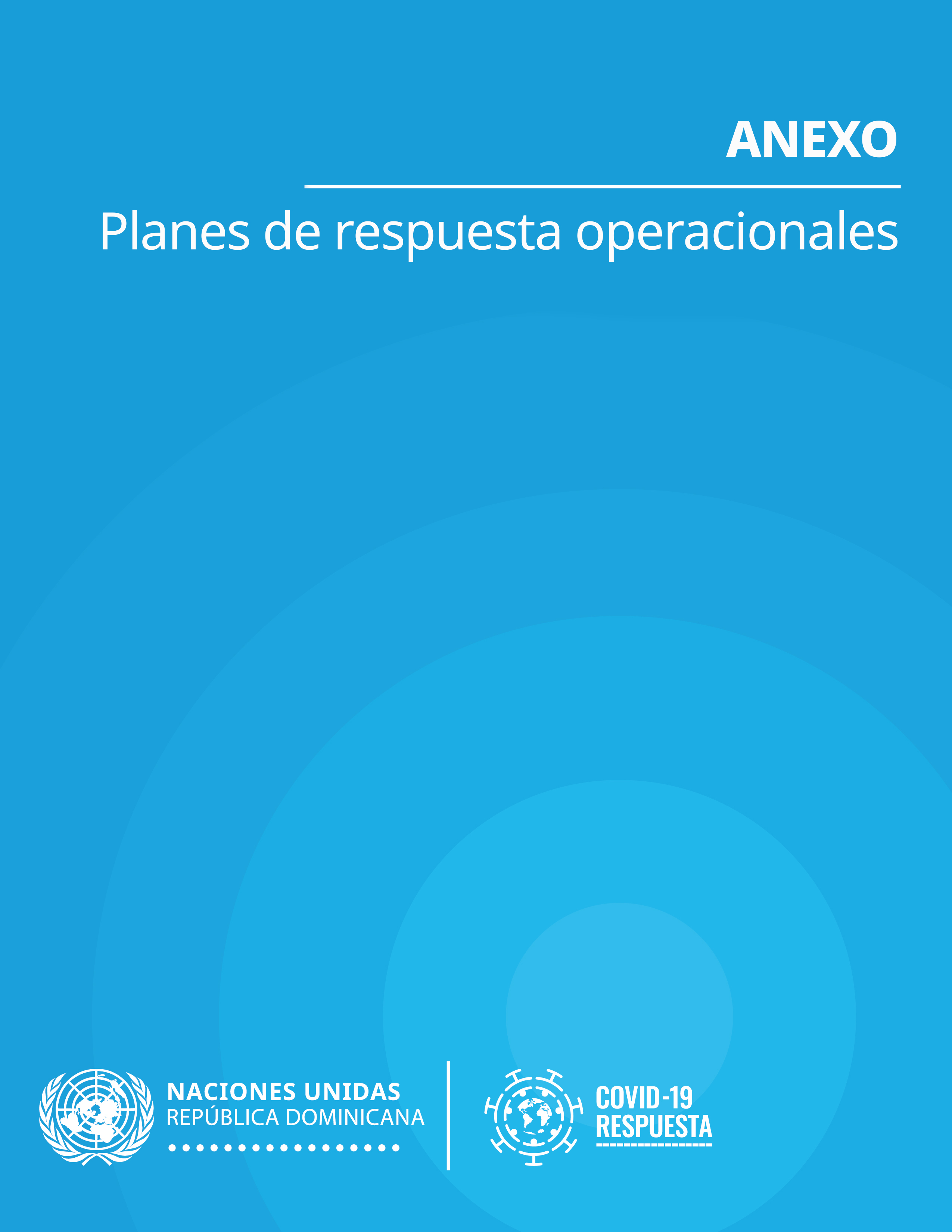 Portada anexos Plan de Respuesta COVID