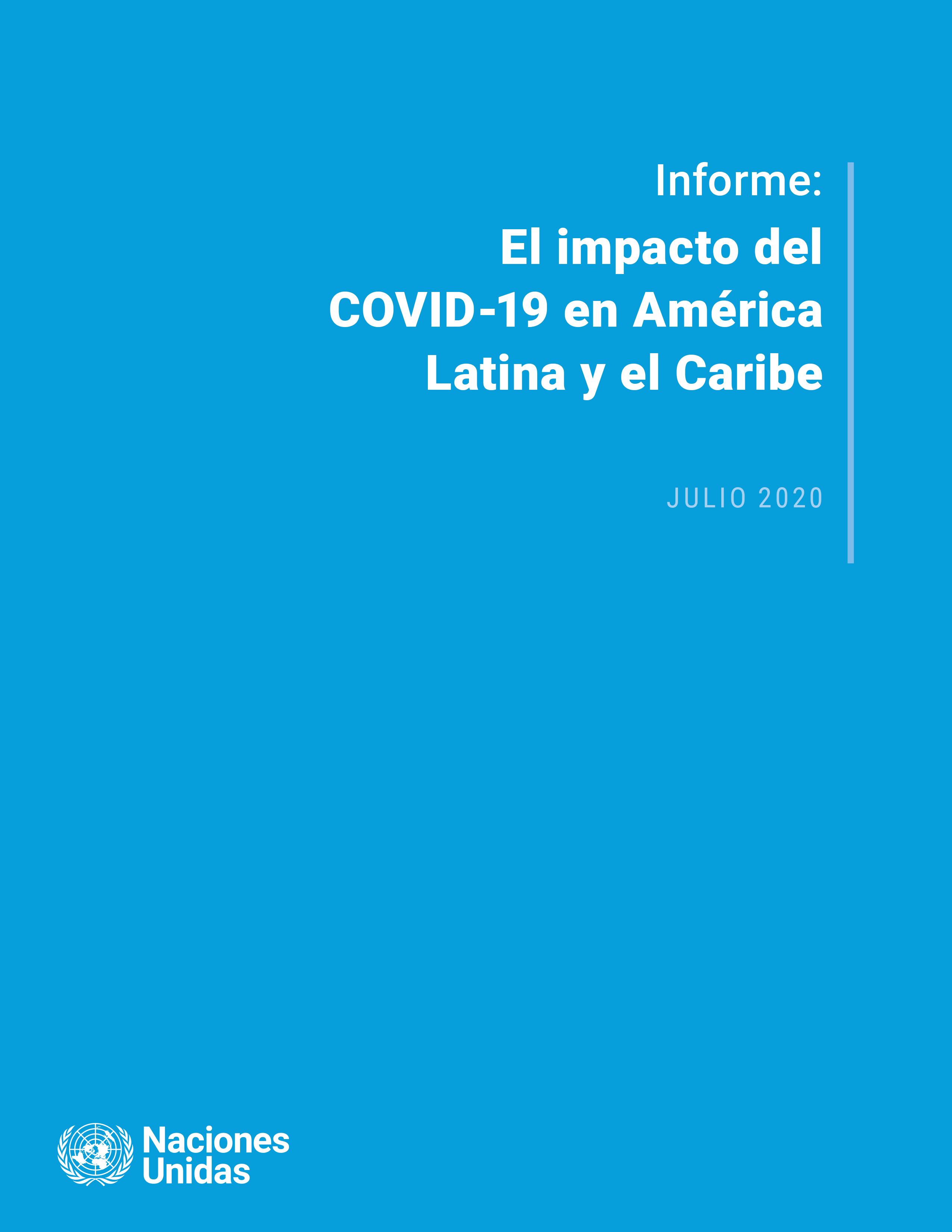 Portada Informe COVID América Latina y Caribe