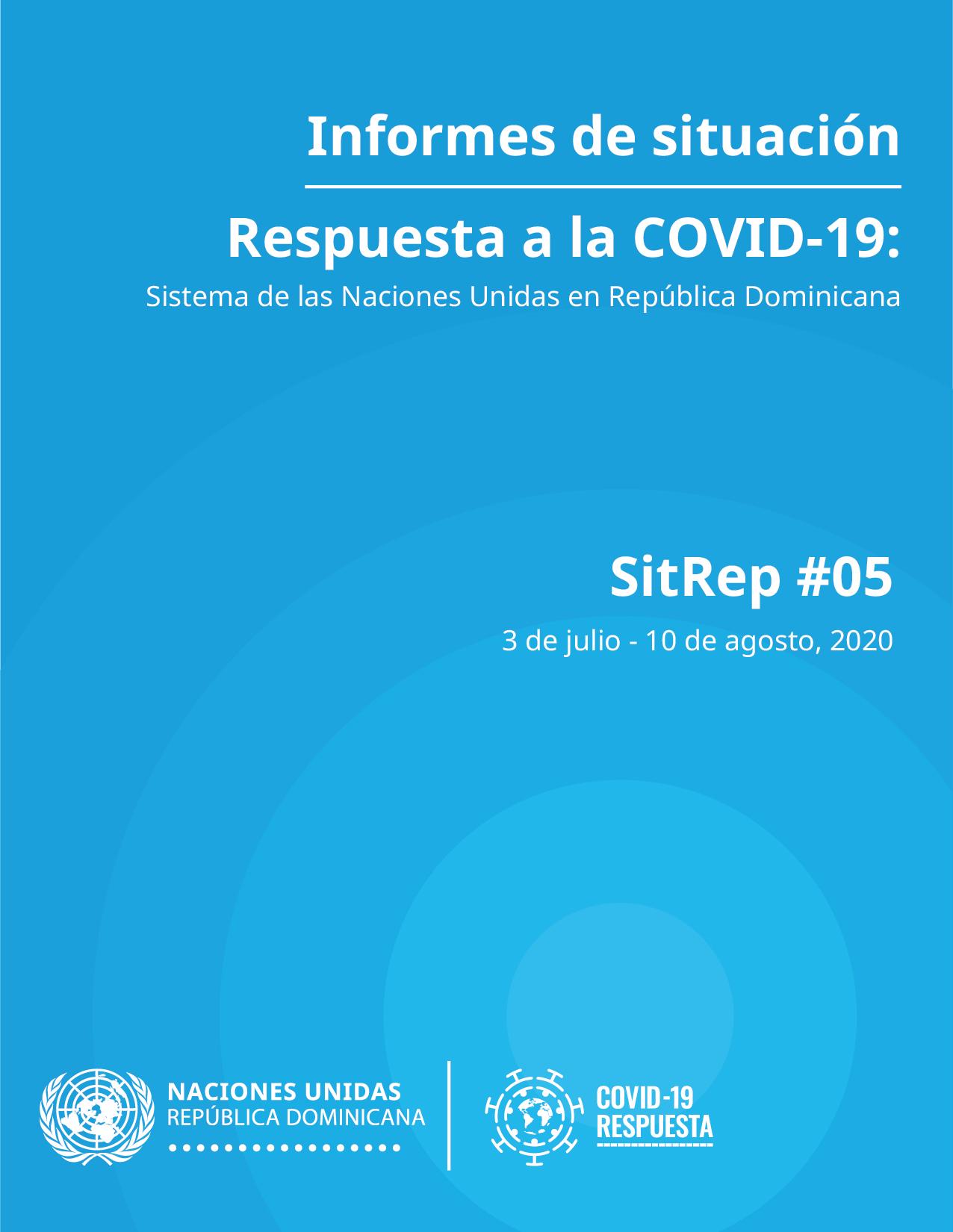 Portada Informe de Situación #05: Respuesta a la COVID-19