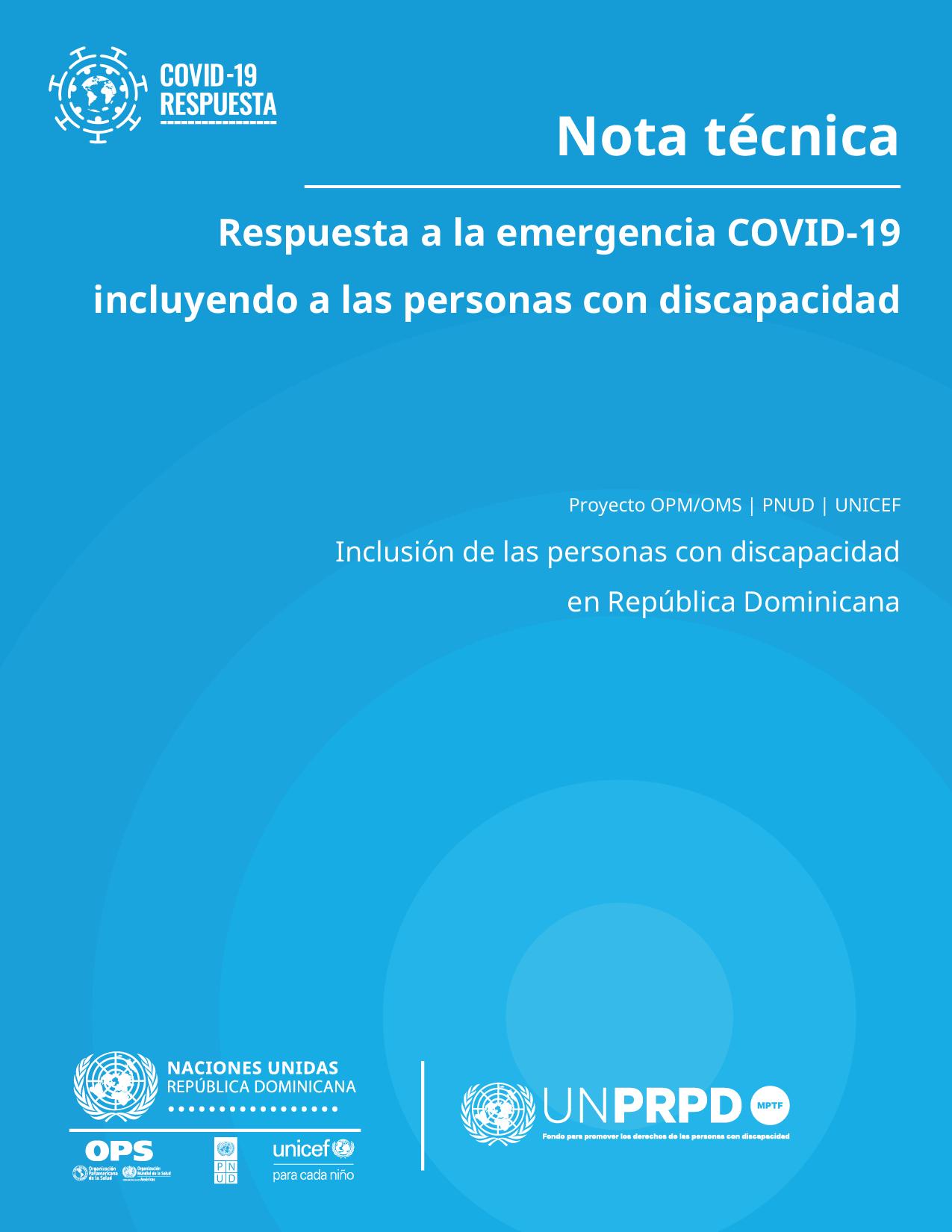 portada UNPRPD covid discapa