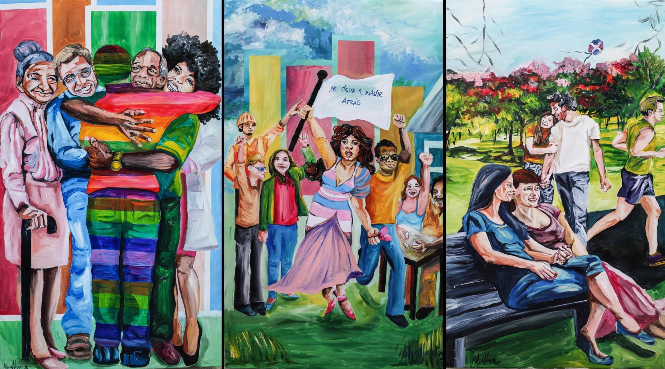 Con Mural en Museo de la Resistencia conmemoran Día Internacional contra la Homofobia, la Transfobia y la Bifobia