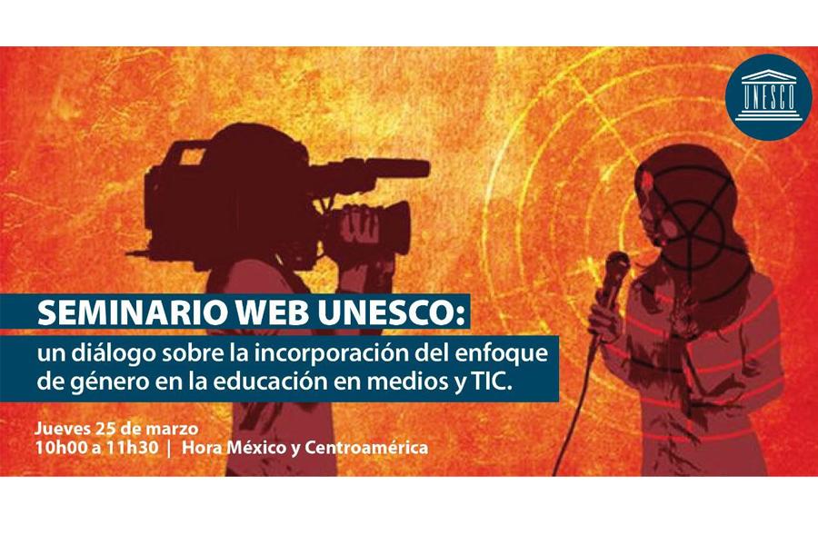 Seminario web UNESCO mes de la mujer