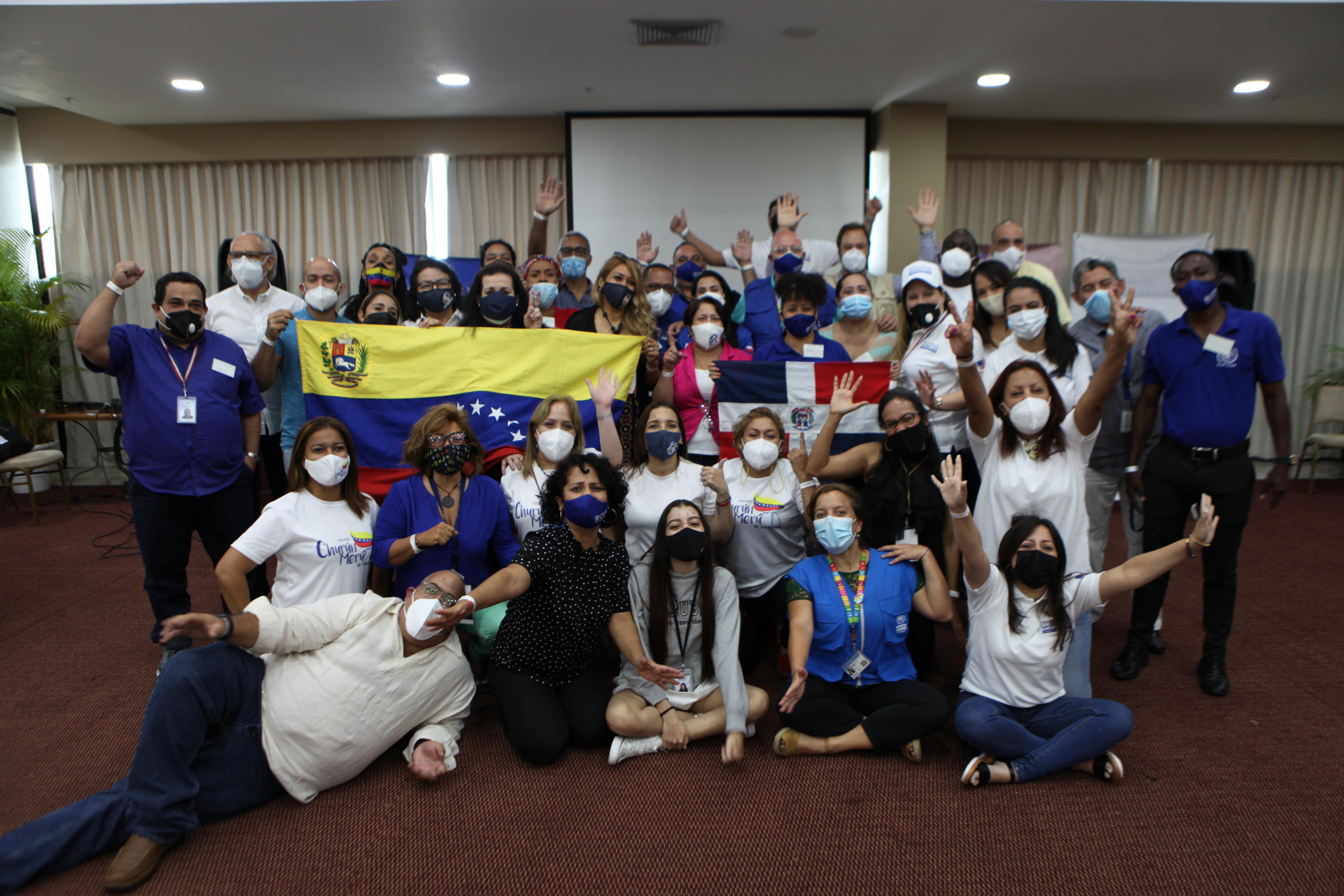 Miembros de las organizaciones venezolanas y de la Plataforma R4V