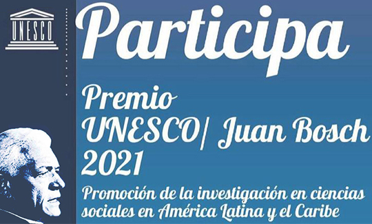 Premio UNESCO Juan Bosch 2021