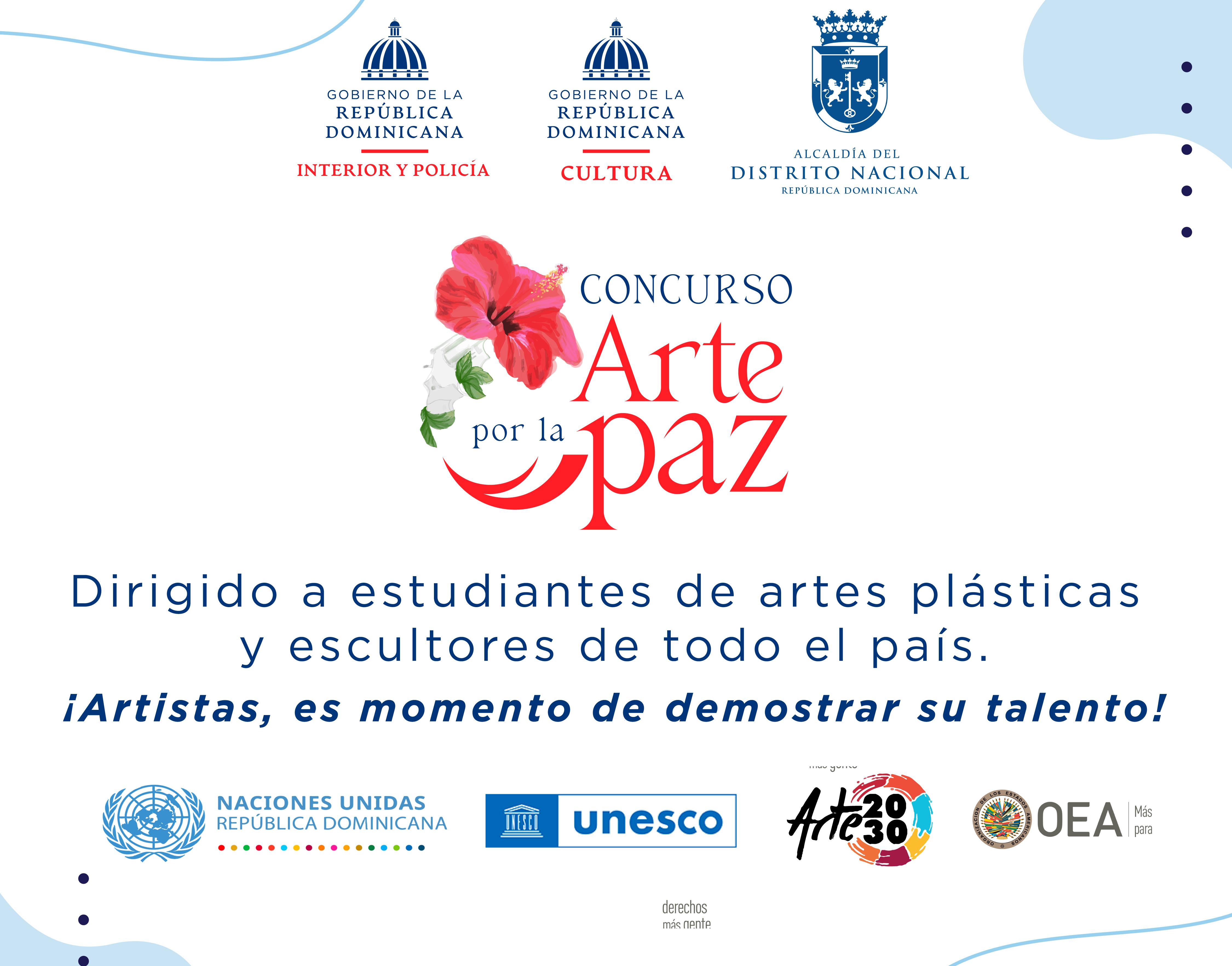 """Concurso """"Arte por la Paz"""" convoca artistas del país a presentar propuestas"""