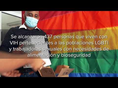 PNUD entrega kits de alimentos y bioseguridad a personas viviendo con VIH, personas LGBTI y trabajadoras sexuales